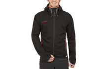 Chaqueta Mammut Softshell Ultimate Hoody black-inferno hombre